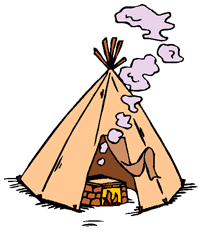 Teepee sending out smoke signals